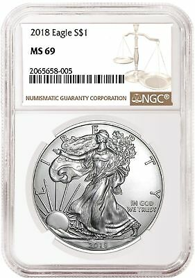 2018 American Silver Eagle NGC MS69