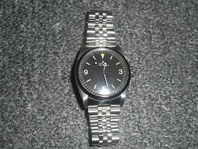 ROLEX AIR KING OYSTER PERPETUAL WRISTWATCH 1958 with jeweller valuation papers