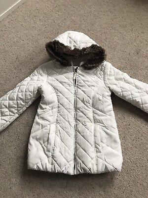 6190b0f2a MARKS AND SPENCERS baby Girls Fleece Lined Waterproof Coat - £2.60 ...