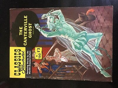 Classics Illustrated #150 THE CANTERVILLE GHOST Wilde RARE 'UK only' F/VF 7 1962