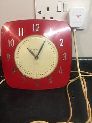 Vintage 1960s Smiths Sectric Wall Clock (working Order)