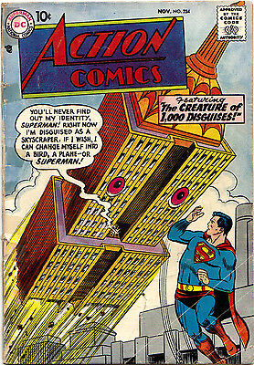ACTION COMICS #234 (DC) SUPERMAN 'The Creature of 1,000 Disguises!' Swan-c 1957