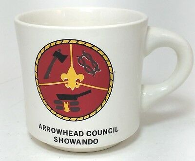 Vintage BSA Boy Scout Arrowhead Council Showando Mug Made in USA Cup