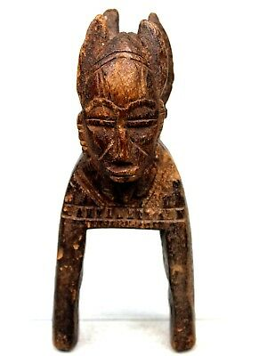 Art African - Antique & Authentic Pulley Occupation loom Senoufo Janus