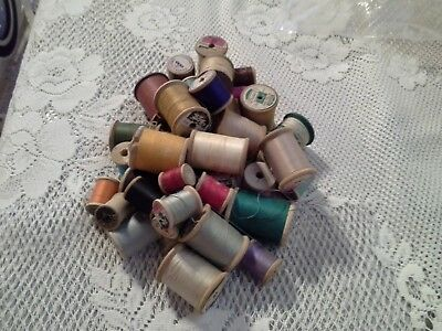 Vintake 42 Wood thread spools