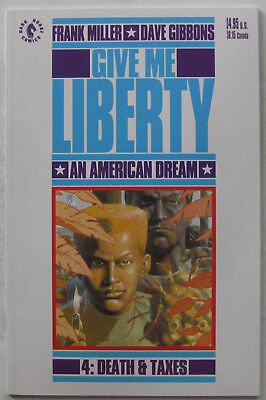 Give Me Liberty #4 (Apr 1991, Dark Horse), NM condition, Frank Miller scripts