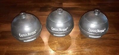 NEW SET OF 3 Captain Morgan Canon Blast Cannonball Rum Alcohol Drink Cups