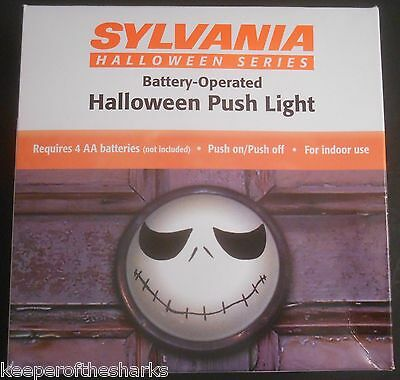 Sylvania Halloween Jack Skellington Inspired Push Light Nightmare Before Xmas