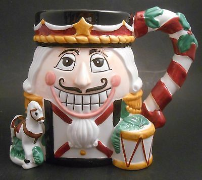 Tis the Season Oversized Nutcracker 18 Oz Christmas Ceramic Mug NEW CIC 3D