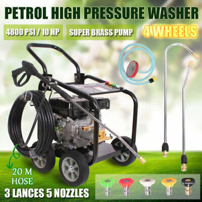 New Black Jet 10 Hp 4800 Psi  High  Pressure Water Washer Cleaner Gurney Bras