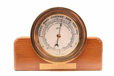 Vintage Schatz Germany Compensated Precision Barometer Wood Stand ships nautical