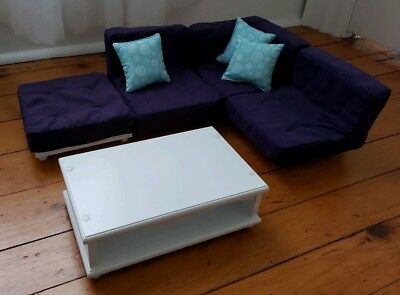 Swell Our Generation Doll Purple Couch Sectional Sofa Coffee Table Ibusinesslaw Wood Chair Design Ideas Ibusinesslaworg