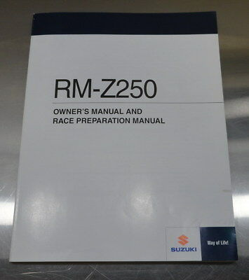 New Suzuki Rm-Z250 Owner's & Race Preparation Manual English 99011-49H54-01A