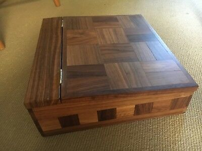 hand crafted Parquetry Wooden writers box