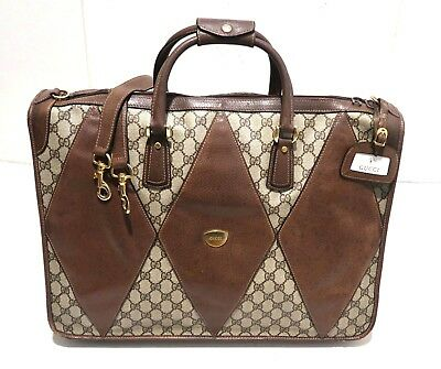 ec4f70584b26 Authentic Vintage GUCCI Duffel Bag Carry On Travel Bag Suitcase Luggage w   Strap