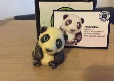 NIB!  Harmony Kingdom / Ball POT BELLY Pandy Panda Bear Cute!