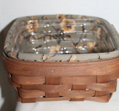 2009 Longaberger Small Berry Basket, Protector, Fabric