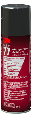 3M Multi-Purpose Spray 7.3 oz. Adhesive Super 77 DIY Home Craft, California Safe