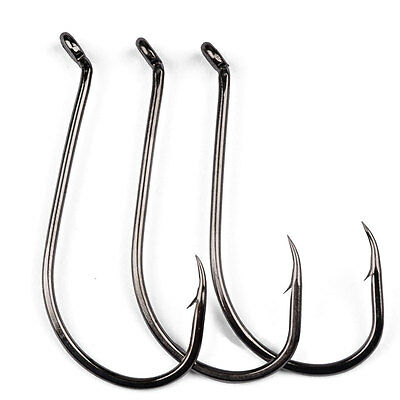 Lot 50pcs Octopus Fishing Hook High carbon steel Saltwater Bass hooks 1#-7/0#