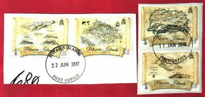 PITCAIRN ISLANDS 2017 OLD MAPS SET FINE USED (2 pcs.)