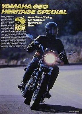 YAMAHA 650 HERITAGE SPECIAL Motorcycle Test Article 1982