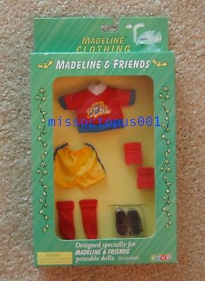 """New! 8/"""" Madeline Doll Goal Soccer Outfit /& Accessory Set"""