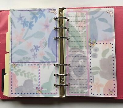 Filofax Personal Organiser Planner Beautiful Flower Bullet Box Paper - 20 pages