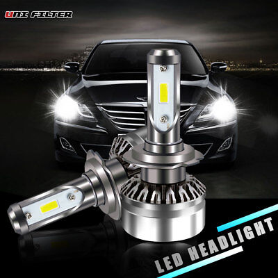 60W 6000LM 2 sides LED H7 Headlight 6500K HID White bulbs Pair 1 YEAR Warranty