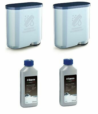 2x SAECO Philips AquaClean CA690 + 2 x 250ml Saeco Entkalker Wartungs  Pflegeset