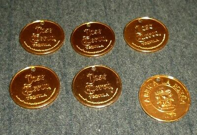 Lot of 6 Jose Cuervo Tequila Whiskey Metal Vintage Large Tokens