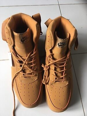 designer fashion 15536 70c9e Nike Air Force 1 size UK 11 brown gold trainer high cut. New -