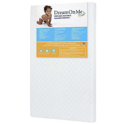 """Baby Toddler Dream On Me 3"""" Portable Crib Mattress New Fast Shipping GIFT NEW"""