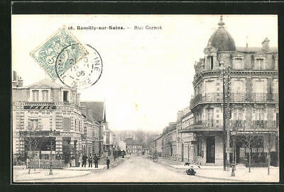 CPA Romilly-sur-Seine, Rue Carnot 1906