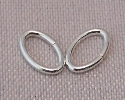 3.5 x 5.3mm 925 STERLING SILVER OVAL JUMP RING FOR JEWELLERY QUALITY SILVER 9-11