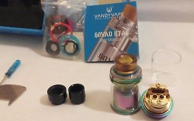 Authentique Atomizer single coil Govad RTA by VandyVape  rainbow/arc en ciel