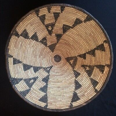"Large Woven African ETHNIC Tribal Basket -15"" Boho/Jungalow 'Flight of Swallow'"