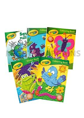 Crayola® x 5 Children Colouring books - Variety of Kids Colouring & Sticker Book