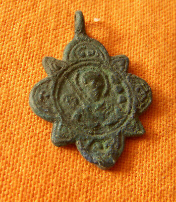 A311. Byzantine style bronze double faced cross