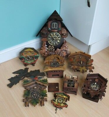Vintage Cuckoo Automaton Clock Job Lot for Spares or Repair