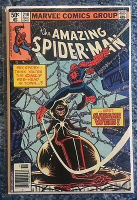 Amazing Spider-Man #210 - 1st Appearance Of Madame Web - Marvel
