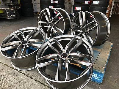 "4 X 19"" Audi a4 a5 a6 a7 a8 q2 q3 q5 Alloy Wheels 5x112 et35 rs6 gmp style RS6C"