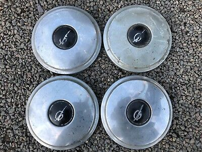 Set 4 Used Classic Vintage Car Wheel Hub Cap Covers For Princess