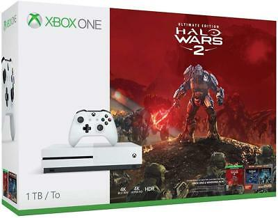 Brand New Xbox One S 1TB Console - Halo Wars 2 Bundle (Game Disc) Factory Sealed