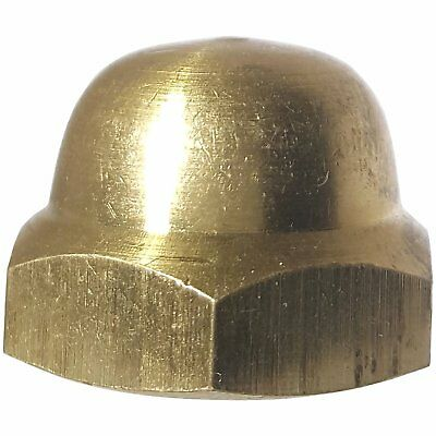 5/16-18 Hex Cap Nuts Solid Brass Grade 360 Commercial Plain Finish Quantity 25