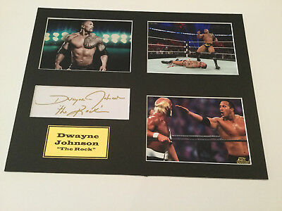 "Dwayne Johnson ""THE ROCK"" Hand Signed **TAKE A LOOK** Wrestling / Movies"