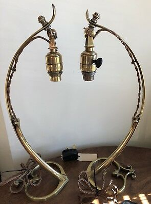 Original Pair Of Arts & Crafts / Nouveau Lamps /Light WAS Benson ?