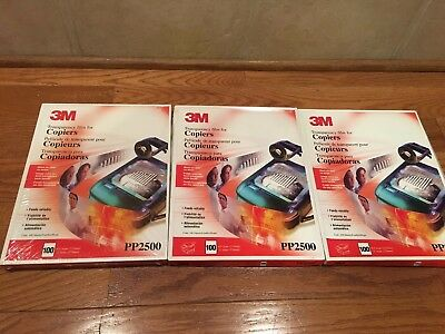 "3M Transparency Film For Copiers PP2500 (3 Packs - 300 Total Sheets) 8.5"" X 11"""