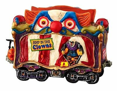 Creepy Clown Car Dept 56 Snow Village Halloween 4049218 train Haunted Rails A