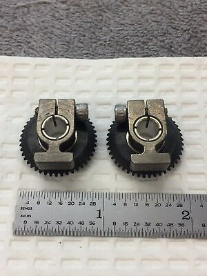 Pic Design Delrin-Aluminum Clamp Hub 90 Deg Miter Gear With Clamp 48 Pitch 1/4 B