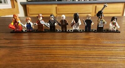 Horror Movie Lego set 10 piece Freddy Michael Myers Chucky Ring Carrie exorcist